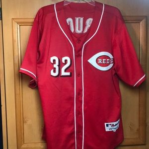 Mens Cincinnati Reds BRUCE baseball jersey size 50